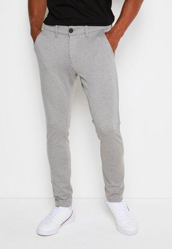 PONTE ROMA PLAIN - Pantaloni - medium grey melange