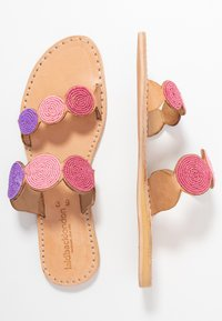 laidbacklondon - SANI FLAT - Pantofle - light brown/rose - 3