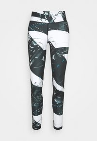 Reebok - WORKOUT READY PRINTED LEGGINGS - Punčochy - black - 3