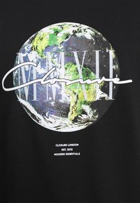 CLOSURE London - EARTH TEE - T-shirt imprimé - black - 4