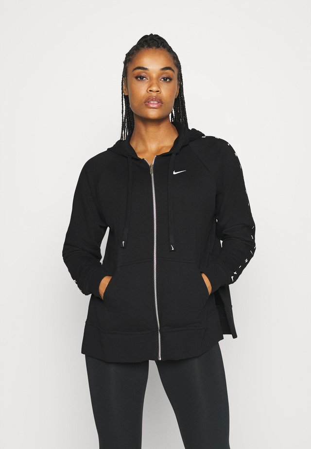 DRY GET FIT TAPING - Zip-up hoodie - black