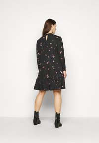 New Look Curves - MILLIE HIGH NECK TIER SMOCK - Day dress - black - 2