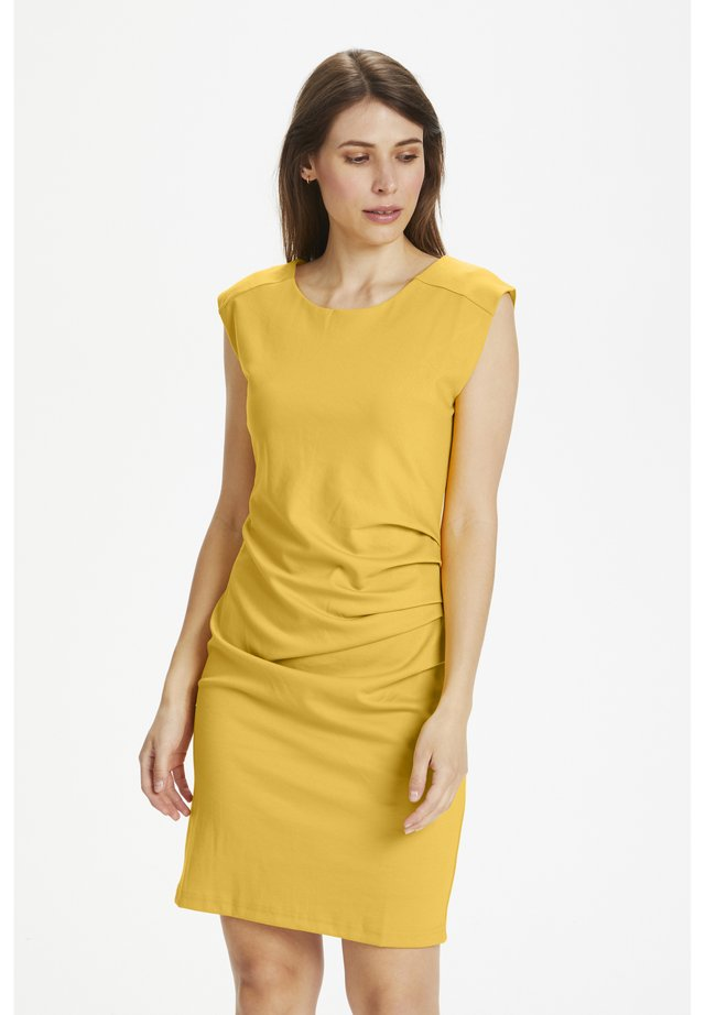 INDIA O NECK - Shift dress - golden rod