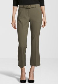 Fiveunits - HOSE CLARA CROP BELTED 285 - Trousers - green - 0