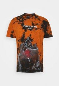 ANXIETY  WASHED TEE - Triko spotiskem - burnt orange