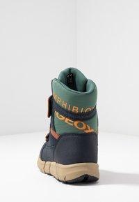 Geox - FLEXYPER BOY ABX - Snowboot/Winterstiefel - navy/orange - 4