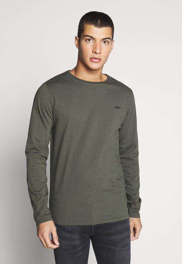 HEIN LONG SLEEVE - Long sleeved top - military green