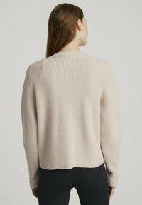 TOM TAILOR DENIM - Cardigan - soft beige - 2