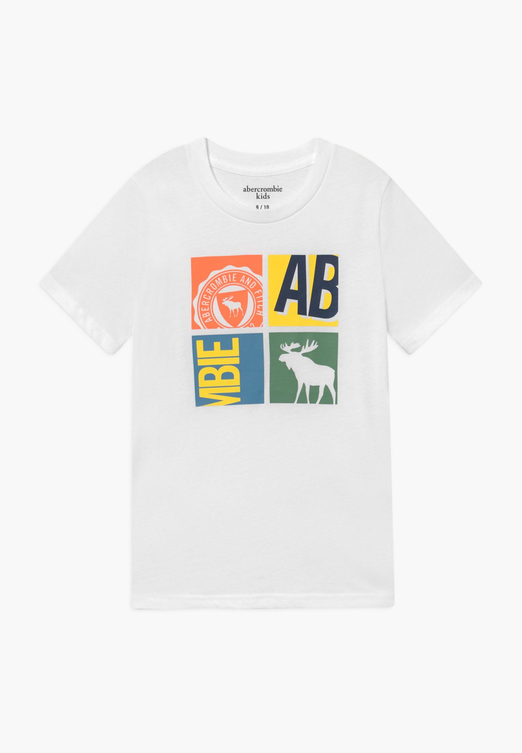 Große Förderung Abercrombie & Fitch LOGO - T-Shirt print - white   Damenbekleidung 2020