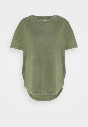 BASIC TEE - Basic T-shirt - olive fun