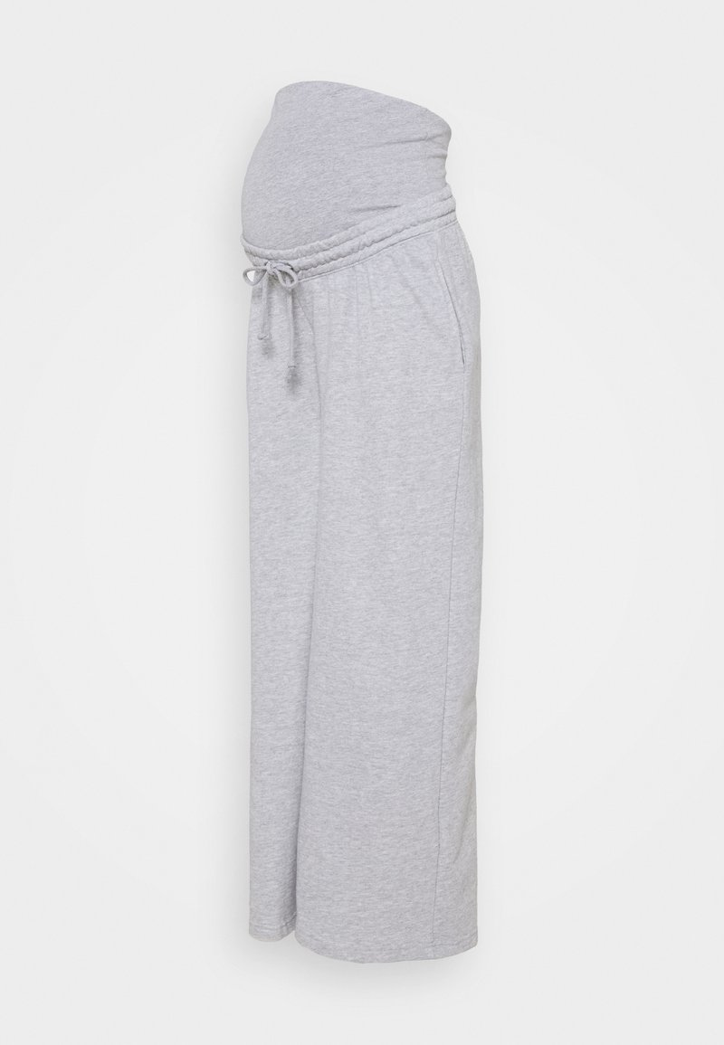 Missguided Maternity - MATERNITY SUPER WIDE LEG JOGGER - Tracksuit bottoms - grey marl