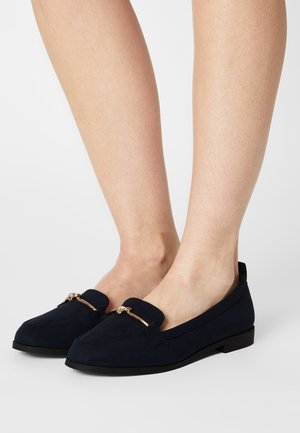 WIDELOOM KNOT SNAFFLE LOAFER - Slippers - navy