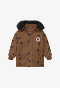 Mini Rodini - HEARTS - Winter coat - brown - 5