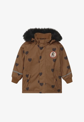 HEARTS - Zimní kabát - brown