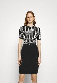 Morgan - Pouzdrové šaty - noir/offwhite - 0