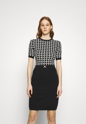 Shift dress - noir/offwhite