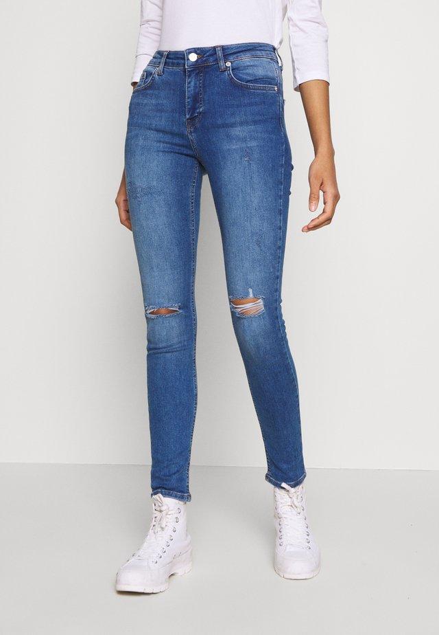 MID WAIST DESTROYED - Skinny džíny - mid blue