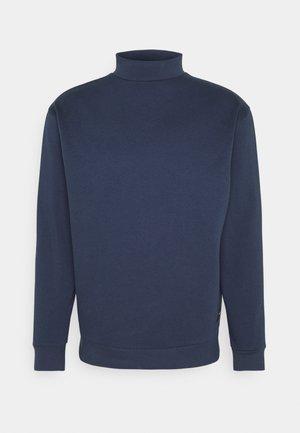 FUNNEL NECK CREW - Sweatshirt - navy