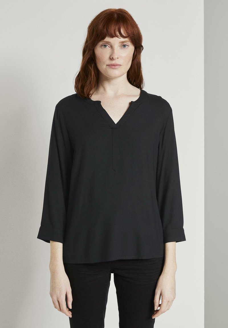 TOM TAILOR - Blouse - black