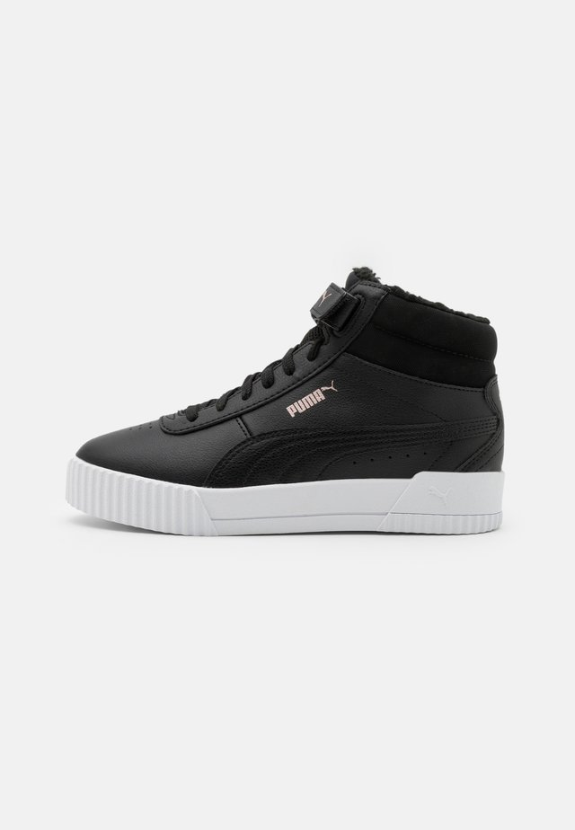 CARINA MID JR UNISEX - High-top trainers - black/rose gold/white