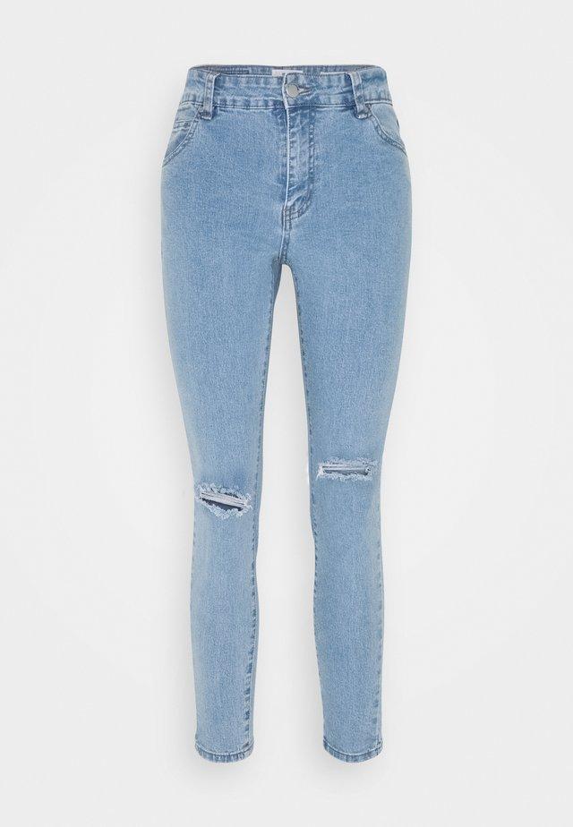 MID RISE CROPPED - Skinny džíny - flynn blue