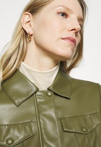 comma - Faux leather jacket - deep green - 4
