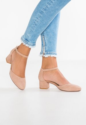 LEATHER CLASSIC HEELS - Klassiske pumps - nude