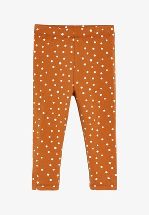 SPOT PRINT - Leggings - Trousers - brown