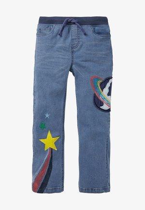 Straight leg jeans - mittleres vintageblau, weltraummotiv