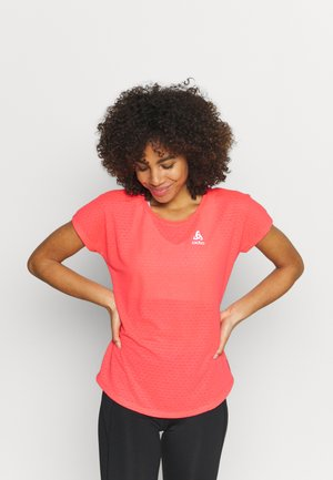 RUN EASY LINENCOOL CREW NECK - T-shirt con stampa - siesta melange