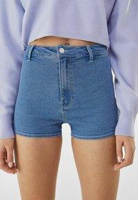 Bershka - Denim shorts - blue denim - 3