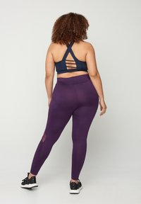 Zizzi - Leggings - Trousers - purple - 2