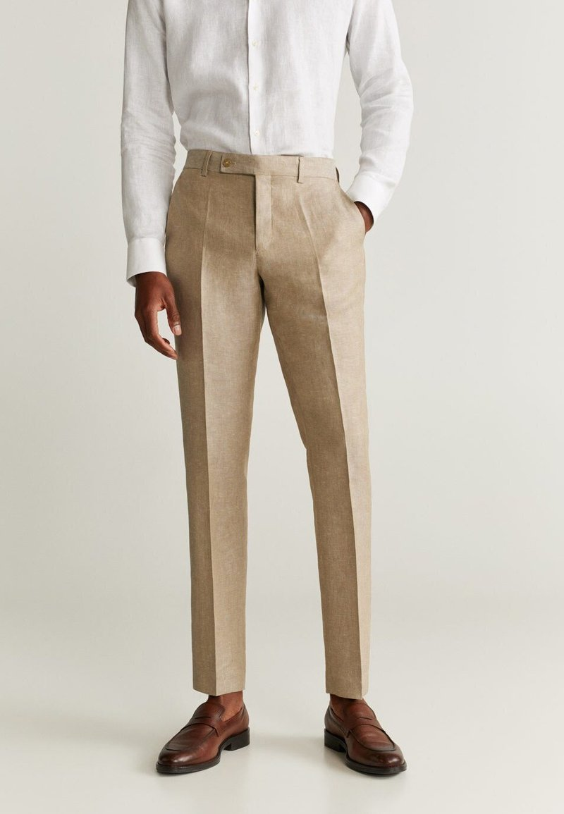 Mango - FLORIDA - Pantalon de costume - open beige