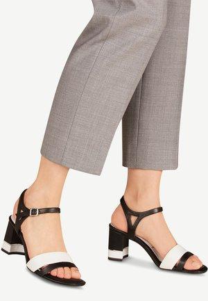 1-1-28033-24 - Sandals - black/white