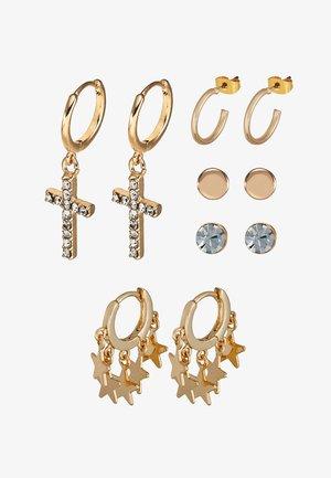 ONLCANDIE EARRINGS 5 PACK - Korvakorut - gold-coloured