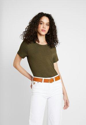 ONLMOSTER STRING - T-shirt con stampa - beech/melange