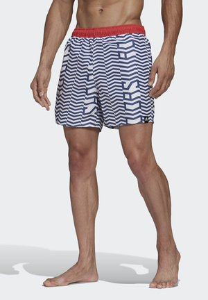 GRAPHIC CLX SWIM SHORTS - Swimming shorts - white