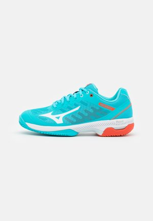 WAVE EXCEED SL 2 CC - Clay court tennis shoes - scuba blue/white/mandarin red