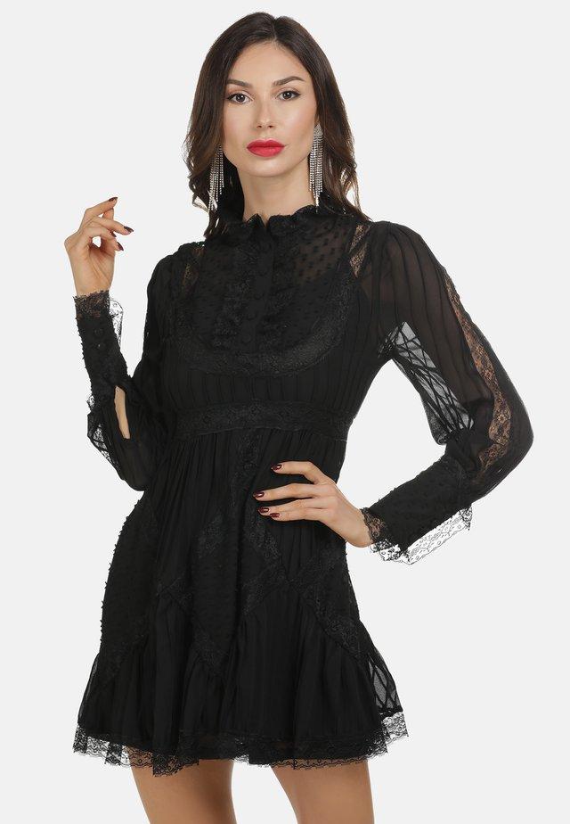 KURZES KLEID - Korte jurk - black