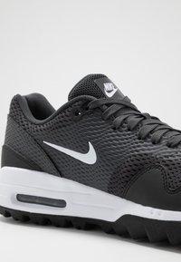 Nike Golf - AIR MAX 1 G - Golf shoes - black/white/anthracite - 5