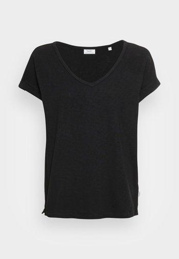 SHORT-SLEEVE WIDE BODYSHAPE V-NECK - Basic T-shirt - black