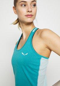 Salewa - AGNER HYBRID DRI REL TANK - Sports shirt - ocean - 4