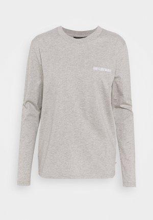 CASUAL LONG SLEEVE TEE - Long sleeved top - grey melange