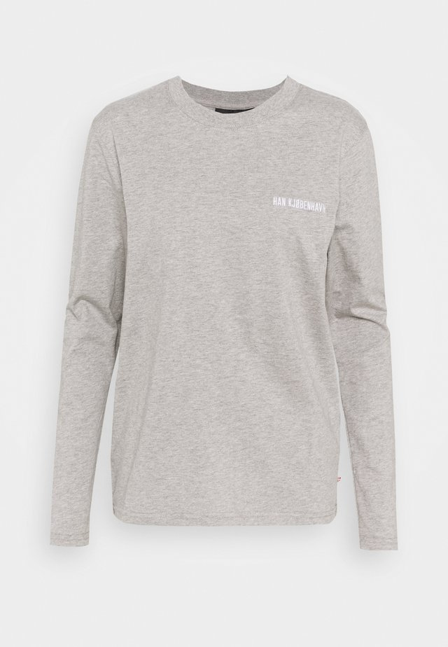 CASUAL LONG SLEEVE TEE - Top s dlouhým rukávem - grey melange
