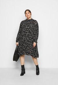 Kaffe Curve - SAVY DRESS - Day dress - black/chalk - 1