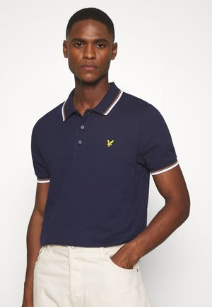 TIPPED  - Piké - navy/white