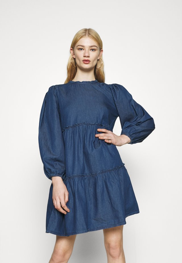 RHIANNA SMOCK DRESS - Korte jurk - blue pattern