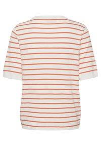 Kaffe - Print T-shirt - chalk / orange stripes - 1