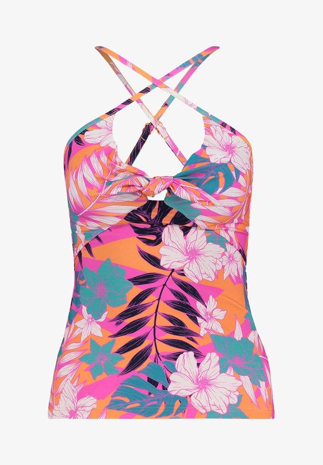 TIE FRONT SINGLET - Bikini top - pink (315)