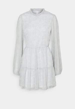 VOLUME SLEEVE DRESS - Korte jurk - light grey